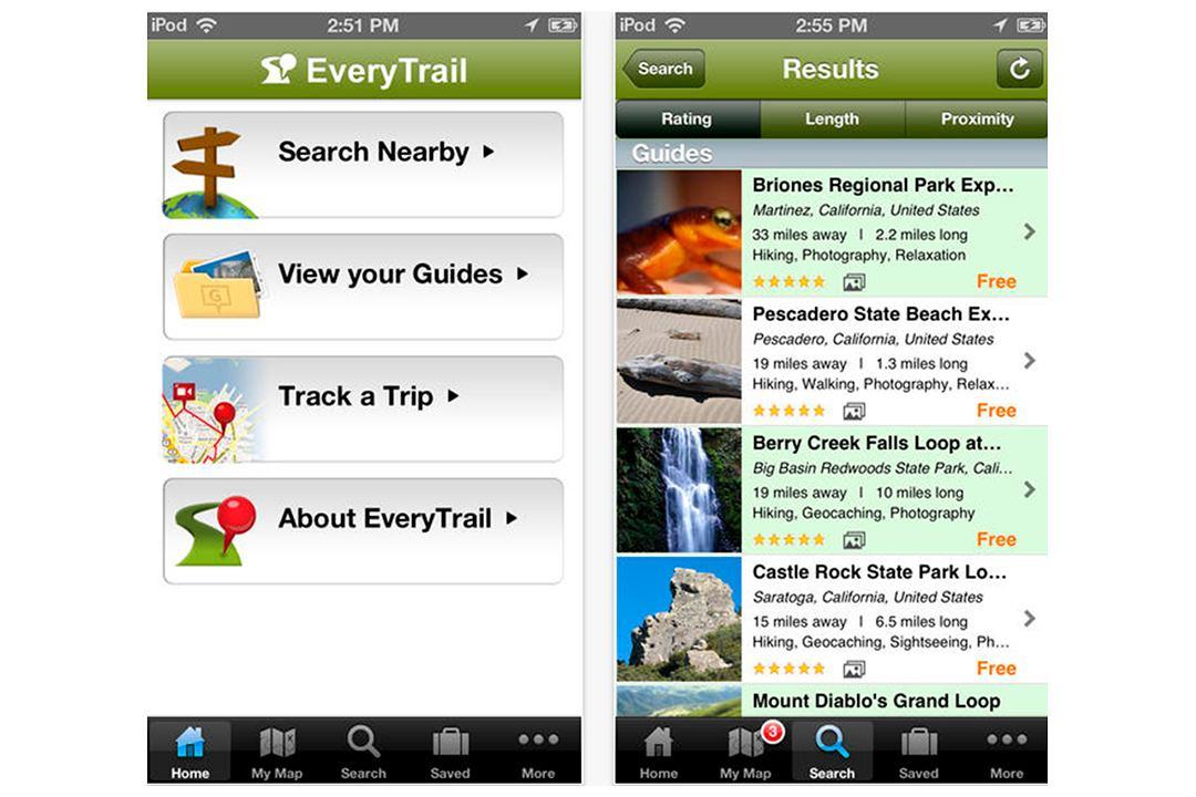 EveryTrail: condivide i tuoi viaggi e percorsi su iPhone e