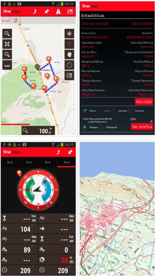 OruxMaps | App gratuita GPS montagna