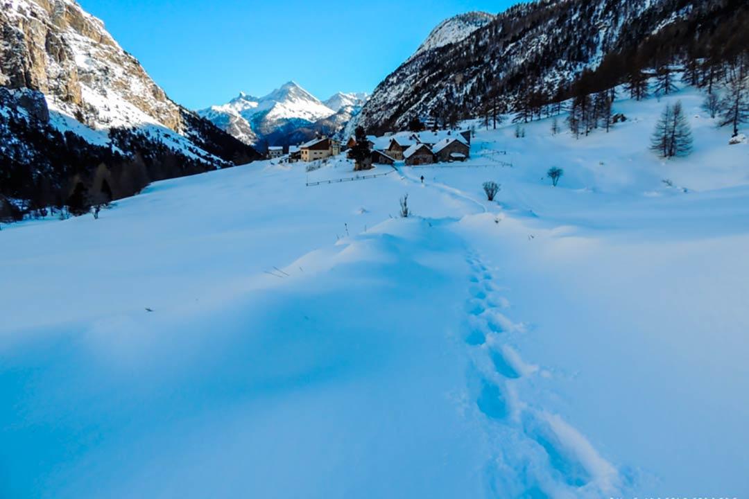 La parte più settentrionale del dipartimento delle Alti Alpi