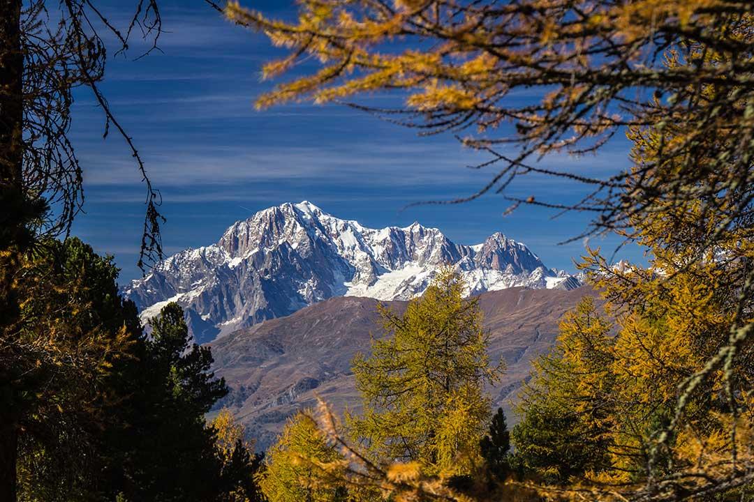 Vista sul Monte Bianco