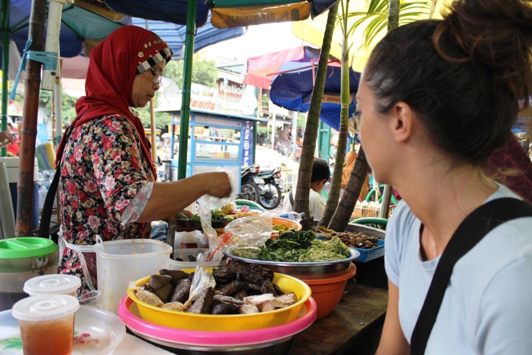 Mangiare al mercato